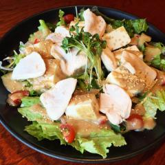 鶏しゃぶと豆腐のサラダ