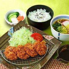 ヒレカツ定食 ハーフ麺セット
